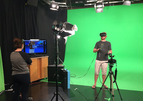 LlamaZOO's recording space for capturing MixCast VR footage