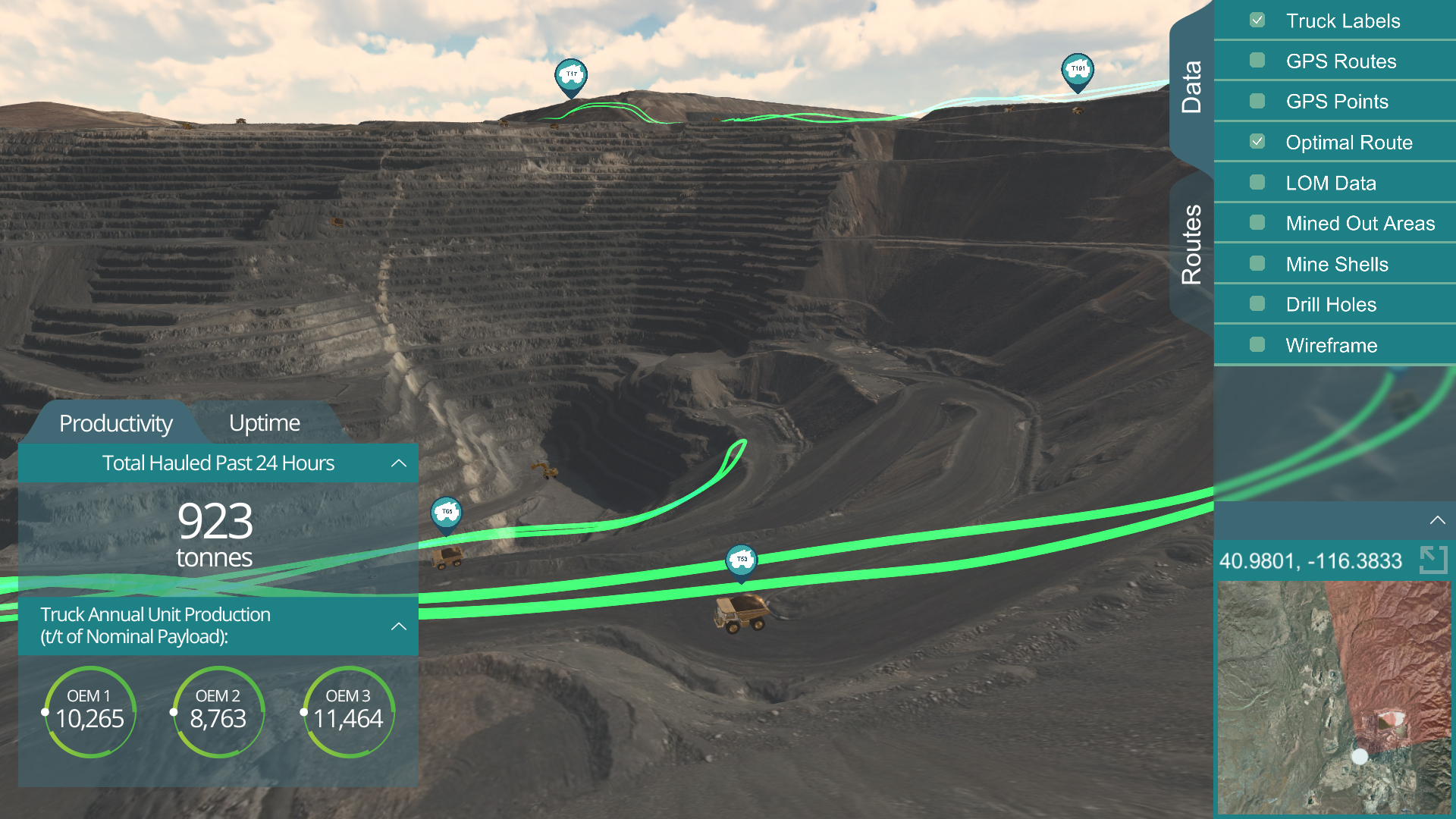 LlamaZOO Mine Site Digital Twin