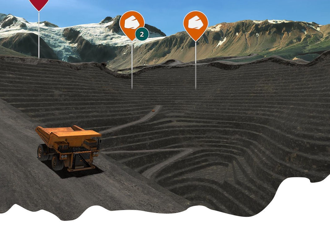 Data visualization and 3D twinning for the mining industry